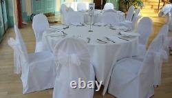 200 Large White Organza Chair Cover Sashes Bow Wedding Party