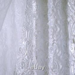 20 Ft X 10 Ft White Ribbon Roses Fond De Mariage Photo Booth Décorations
