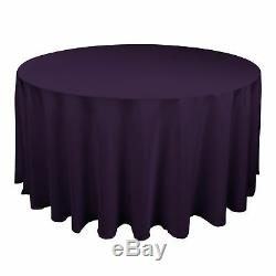 20 Nappes Polyester Aubergine 120 Qualité Rondes 60 Table Cover Made In USA
