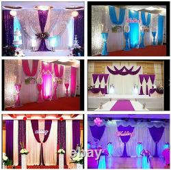 20x10ft Wedding Stage Backdrop Party Drapes Swag Silver Purple Sequin Fond