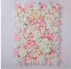 4ftx8ft Artificial Silk Rose 3d Flower Wall Wedding Party Valentine 12panels Br