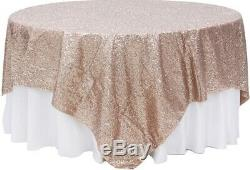 (5) Champagne Paillette Overlays (90 X 90)