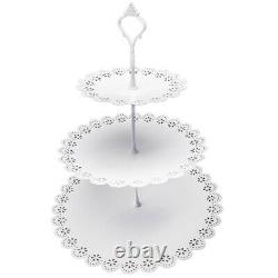 6pcs Cupcake Stand Cake Dessert Holder Wedding Easter Party Display Tower Plate