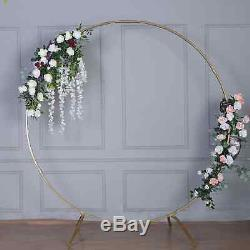 7.5 Ft Métal Or Mariage Arche Photo Booth Backdrop Stand 100 Lbs Capacité