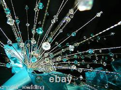 Crystal Wire Mariage Bouquet Fountain Automne Design Extra Full XL -toutes Les Couleurs
