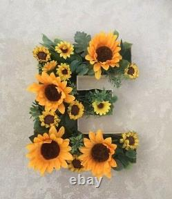 Freestanding /hanging Floral Letters Love Mariage Top Table Fleurs Tournesols