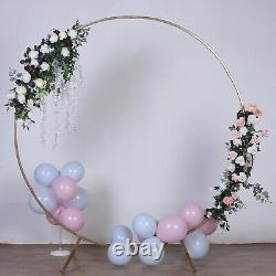 Gold 7.5 Ft Round Metal Wreath Arch Backdrop Stand Wedding Events Décorations