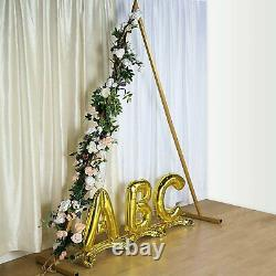 Gold 8 Ft De Haut Triangle Metal Wedding Arch Background Stand Stage Background Party