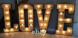 Grandes Lettres Light Up À Vendre Wood 4ft Love With Heart Cabochon Bulbes #wedding
