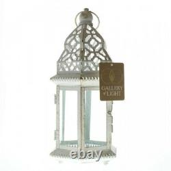 Lot 15 Sublime 12 White Distressed Lantern Candle Holder Wedding Centerpieces