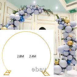 Mariage Round Archway Backdrop Metal Stand Gold Arch Frame Fleur Ballon Décor