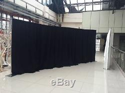 Rapide Kit Backdrop 10 Ft Tall X 10 Ft Ft 50 Pipe Wide Drapée (black Drapes)