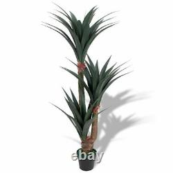 Vidaxl Artificial Yucca Plant With Pot 61 Green Fake Leaves Tree Decor Indoor