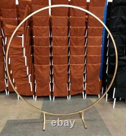 Weddinggeneral White Spandex Round Cover For Wedding Arch Frame Moongate 200cm