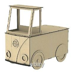 Y210 Vw Candy Cart Camper Candy Cart Sweet Holder Donut Wall Table D'affichage
