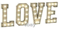 Y291 3ft Led Huge Love Lettres Mariage Partie Fiançailles Any Panier Donut Wall